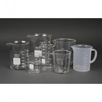 Beaker, 1000 mL, Glass, White Markings