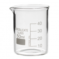 Beaker, 50 mL, White Mrkngs