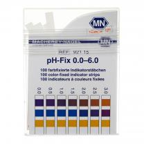 pH Strips,0-6 pH,100/pk